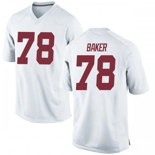 Men's Nike Elliot Baker Alabama Crimson Tide Replica White Football College Jersey