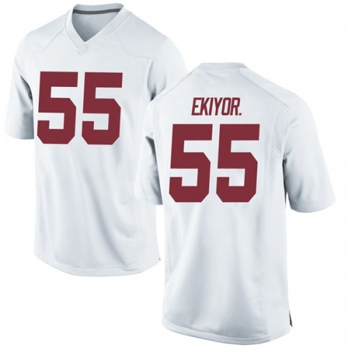 Men's Nike Emil Ekiyor Jr. Alabama Crimson Tide Game White Football College Jersey