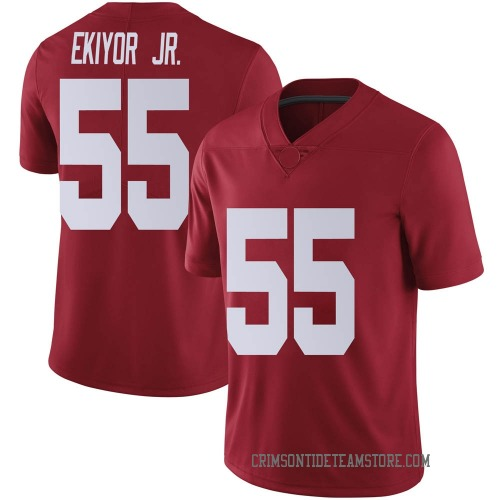 Men's Nike Emil Ekiyor Jr. Alabama Crimson Tide Limited Crimson Football College Jersey