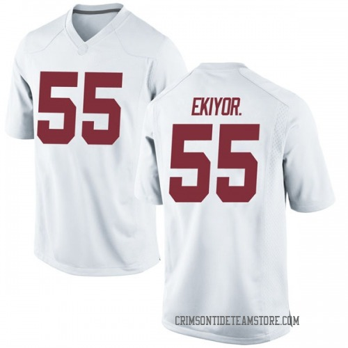 Men's Nike Emil Ekiyor Jr. Alabama Crimson Tide Replica White Football College Jersey