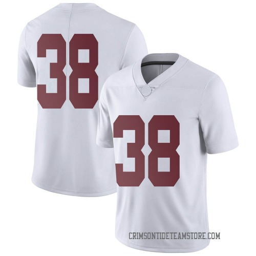 Men's Nike Eric Poellnitz Alabama Crimson Tide Limited White Football College Jersey