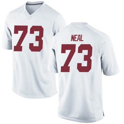 Men's Nike Evan Neal Alabama Crimson Tide Game White Football College Jersey
