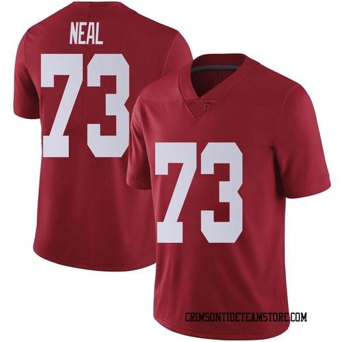 Men's Nike Evan Neal Alabama Crimson Tide Limited Crimson Football College Jersey