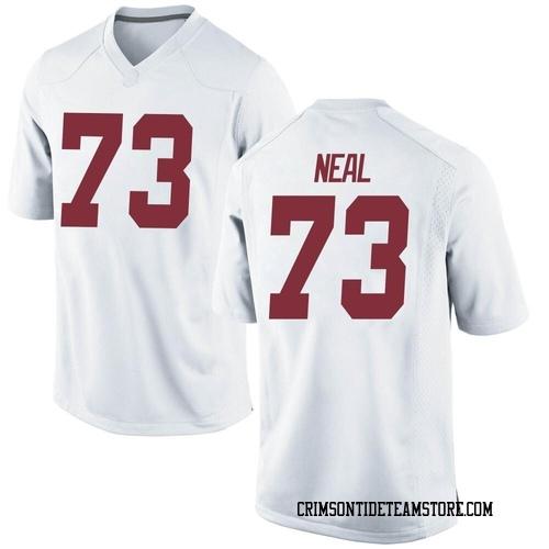 Men's Nike Evan Neal Alabama Crimson Tide Replica White Football College Jersey