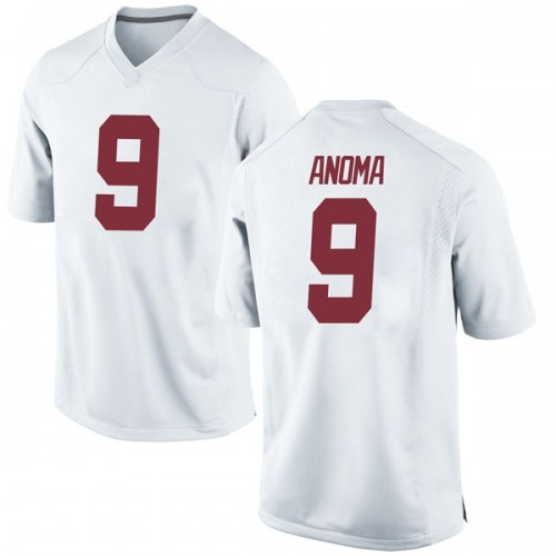 Men's Nike Eyabi Anoma Alabama Crimson Tide Game White Football College Jersey