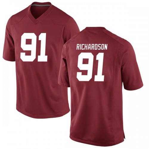 Men's Nike Galen Richardson Alabama Crimson Tide Game Crimson Football College Jersey