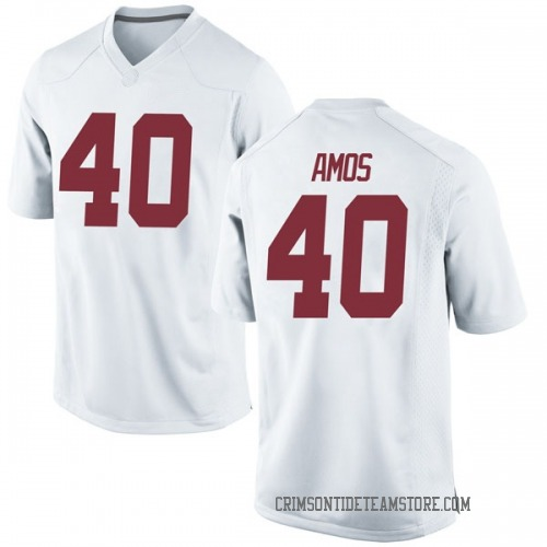 Men's Nike Giles Amos Alabama Crimson Tide Game White Football College Jersey