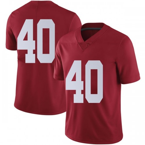 Men's Nike Giles Amos Alabama Crimson Tide Limited Crimson Football College Jersey