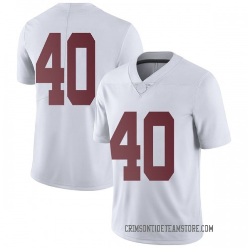 Men's Nike Giles Amos Alabama Crimson Tide Limited White Football College Jersey