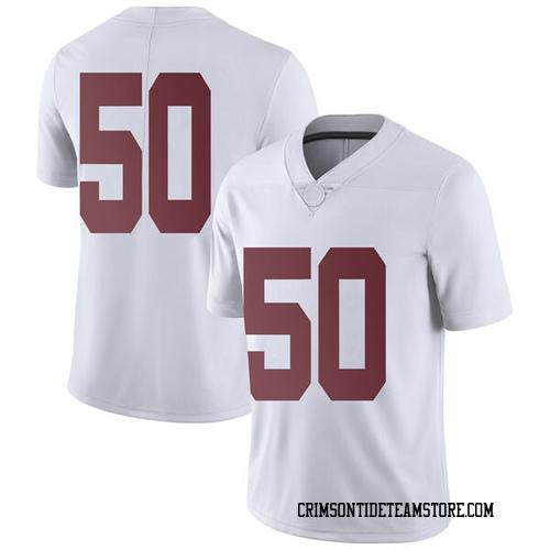 Men's Nike Hunter Brannon Alabama Crimson Tide Limited White Football College Jersey