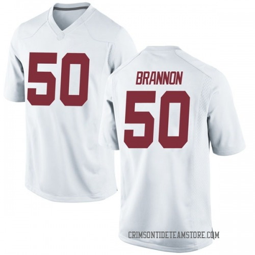 Men's Nike Hunter Brannon Alabama Crimson Tide Replica White Football College Jersey