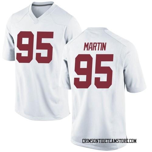 Men's Nike Jack Martin Alabama Crimson Tide Replica White Football College Jersey