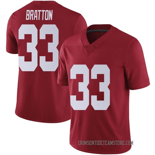 Men's Nike Jackson Bratton Alabama Crimson Tide Limited Crimson Football College Jersey