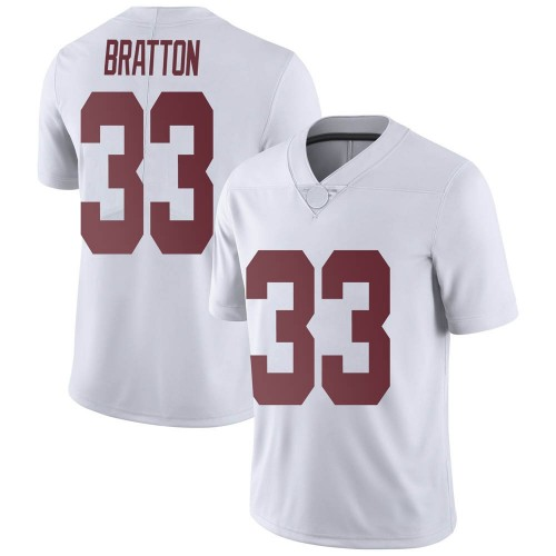 Men's Nike Jackson Bratton Alabama Crimson Tide Limited White Football College Jersey