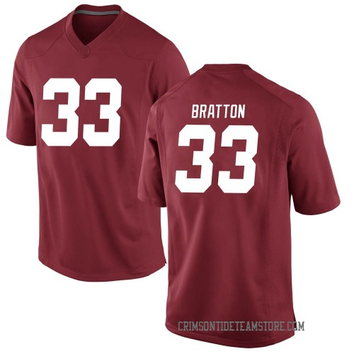 Men's Nike Jackson Bratton Alabama Crimson Tide Replica Crimson Football College Jersey