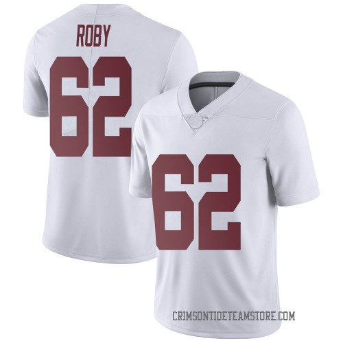 Men's Nike Jackson Roby Alabama Crimson Tide Limited White Football College Jersey