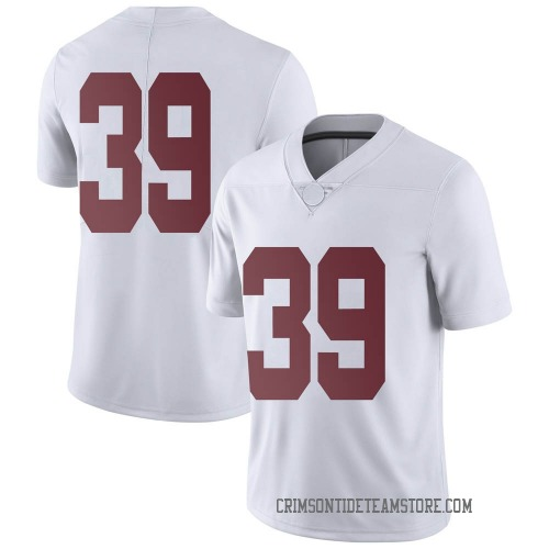 Men's Nike Jahi Brown Alabama Crimson Tide Limited White Football College Jersey