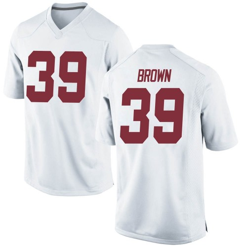 Men's Nike Jahi Brown Alabama Crimson Tide Replica White Football College Jersey