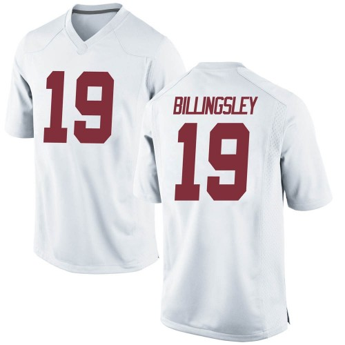 Men's Nike Jahleel Billingsley Alabama Crimson Tide Replica White Football College Jersey