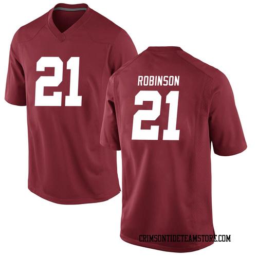 Men's Nike Jahquez Robinson Alabama Crimson Tide Game Crimson Football College Jersey
