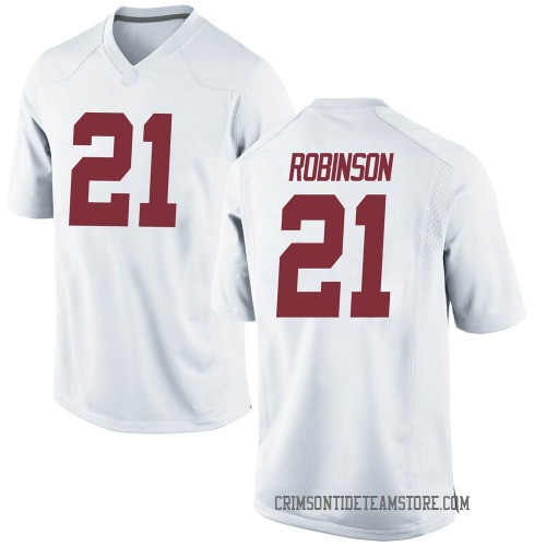 Men's Nike Jahquez Robinson Alabama Crimson Tide Game White Football College Jersey
