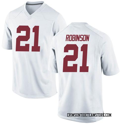 Men's Nike Jahquez Robinson Alabama Crimson Tide Replica White Football College Jersey