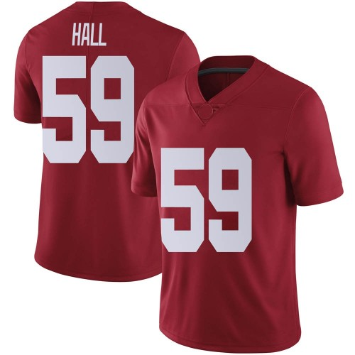 Men's Nike Jake Hall Alabama Crimson Tide Limited Crimson Football College Jersey