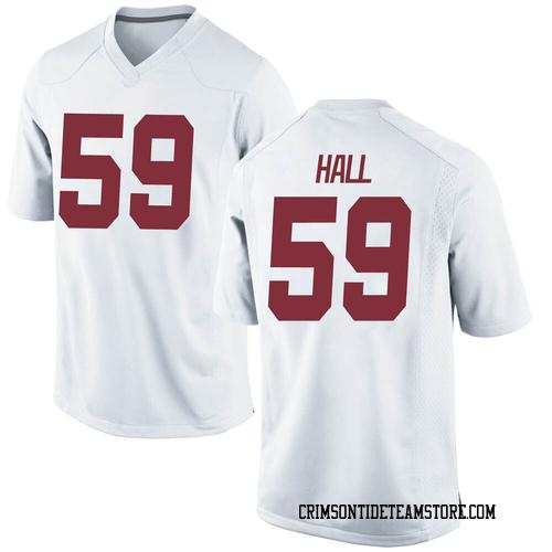 Men's Nike Jake Hall Alabama Crimson Tide Replica White Football College Jersey