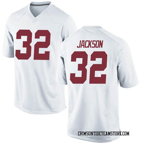 Men's Nike Jalen Jackson Alabama Crimson Tide Game White Football College Jersey