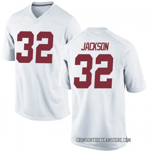 Men's Nike Jalen Jackson Alabama Crimson Tide Replica White Football College Jersey