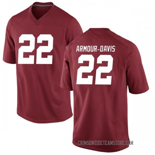 Men's Nike Jalyn Armour-Davis Alabama Crimson Tide Game Crimson Football College Jersey