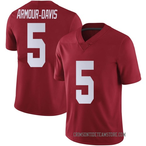Men's Nike Jalyn Armour-Davis Alabama Crimson Tide Limited Crimson Football College Jersey