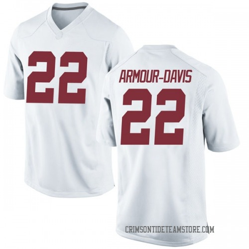 Men's Nike Jalyn Armour-Davis Alabama Crimson Tide Replica White Football College Jersey