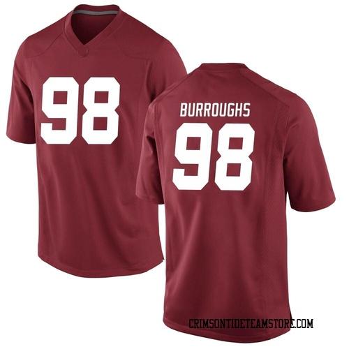 Men's Nike Jamil Burroughs Alabama Crimson Tide Game Crimson Football College Jersey