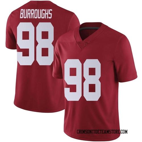Men's Nike Jamil Burroughs Alabama Crimson Tide Limited Crimson Football College Jersey