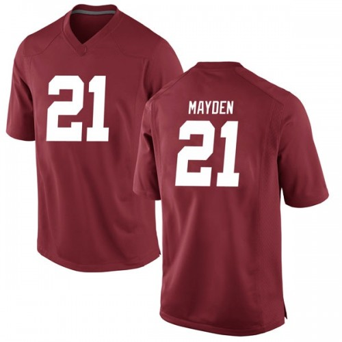 Men's Nike Jared Mayden Alabama Crimson Tide Game Crimson Football College Jersey