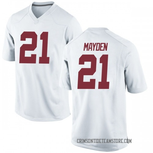 Men's Nike Jared Mayden Alabama Crimson Tide Game White Football College Jersey