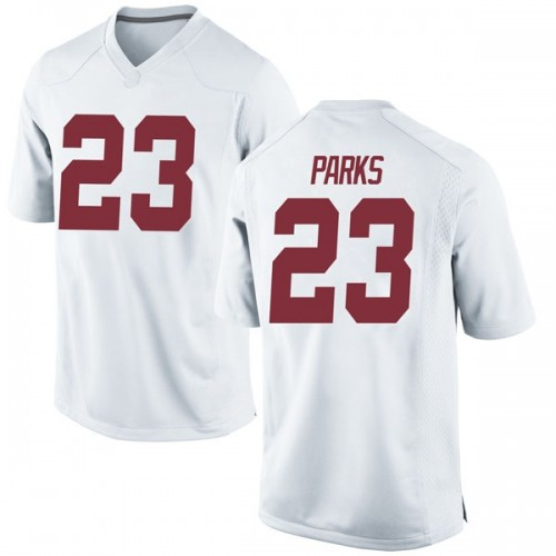 Men's Nike Jarez Parks Alabama Crimson Tide Game White Football College Jersey