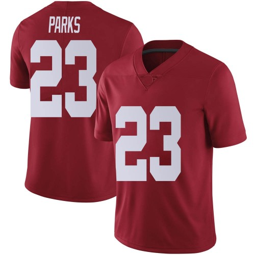 Men's Nike Jarez Parks Alabama Crimson Tide Limited Crimson Football College Jersey