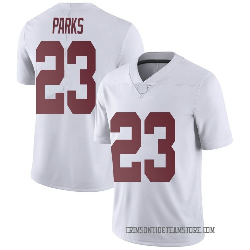 Men's Nike Jarez Parks Alabama Crimson Tide Limited White Football College Jersey