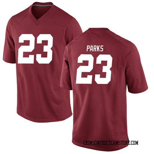 Men's Nike Jarez Parks Alabama Crimson Tide Replica Crimson Football College Jersey