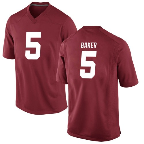 Men's Nike Javon Baker Alabama Crimson Tide Game Crimson Football College Jersey