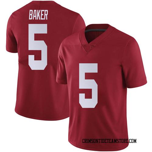 Men's Nike Javon Baker Alabama Crimson Tide Limited Crimson Football College Jersey