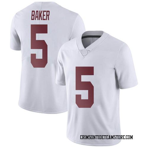 Men's Nike Javon Baker Alabama Crimson Tide Limited White Football College Jersey