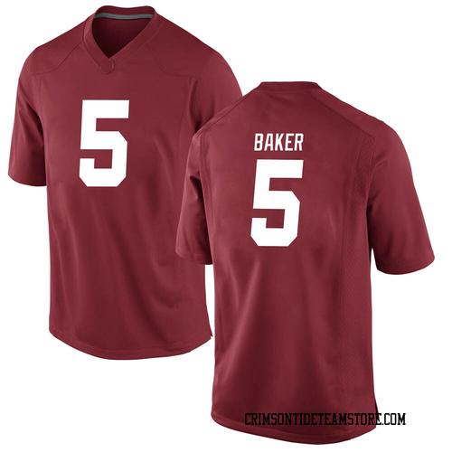 Men's Nike Javon Baker Alabama Crimson Tide Replica Crimson Football College Jersey
