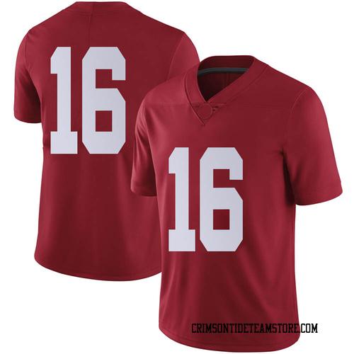 Men's Nike Jayden George Alabama Crimson Tide Limited Crimson Football College Jersey