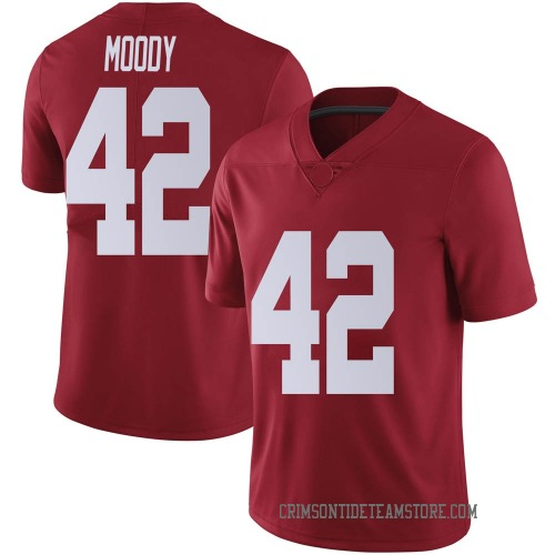 Men's Nike Jaylen Moody Alabama Crimson Tide Limited Crimson Football College Jersey
