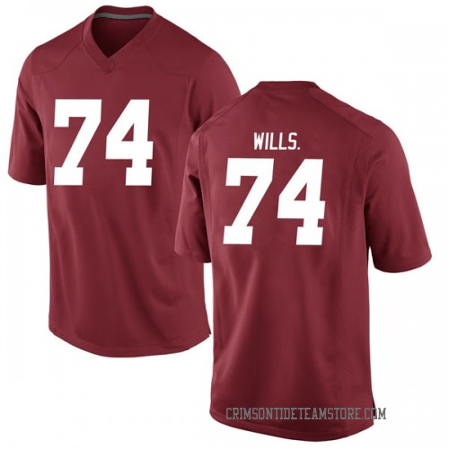 Men's Nike Jedrick Wills Jr. Alabama Crimson Tide Game Crimson Football College Jersey
