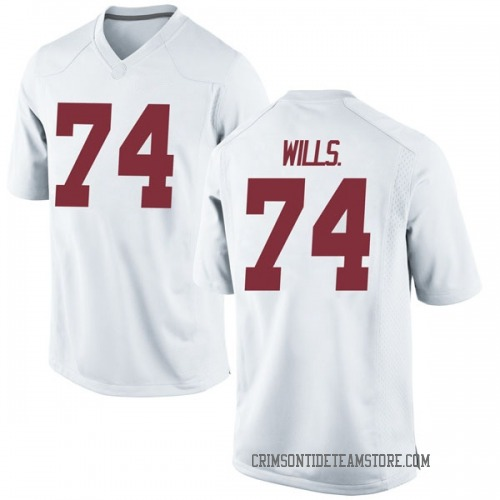 Men's Nike Jedrick Wills Jr. Alabama Crimson Tide Replica White Football College Jersey