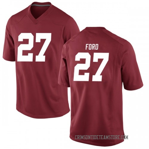 Men's Nike Jerome Ford Alabama Crimson Tide Game Crimson Football College Jersey